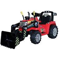 Traktor MASTER s naberačom, červený, pohon zadných kolies