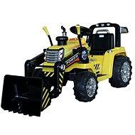 Traktor MASTER s naberačom, žltý, pohon zadných kolies