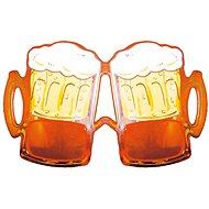 Párty okuliare pivo, oranžové - Doplnok ku kostýmu