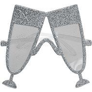 Párty okuliare šampanské, strieborné - Doplnok ku kostýmu