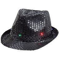 Párty klobúk, čierny s flitrami - Doplnok ku kostýmu