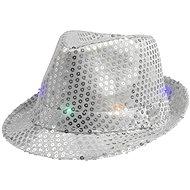 Párty klobúk, strieborný s flitrami - Doplnok ku kostýmu