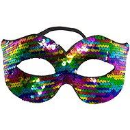 Párty maska s barevnými flitry - Maska