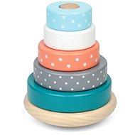 Drevené farebné navliekacie krúžky - Hračka pre najmenších
