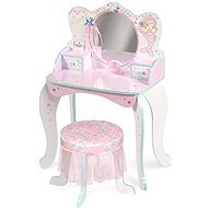 Decuevas 55541 drevený toaletný stolík so zrkadlom, drevenou stoličkou a doplnkami ocean fantasy 2021 - Detský nábytok