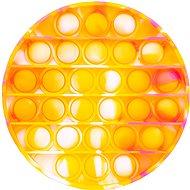 Pop it – kruh 12,5 cm oranžovo-žltý - Spoločenská hra