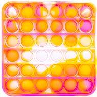 Pop It Pop it - čtverec oranžovo-růžový