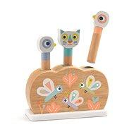 Drevená hračka Drevená hračka vyskakovacie dúhové zvieratká - Dřevěná hračka