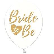 Nafukovacie balóny, 30 cm, Bride To be, priehľadné so zlatým nápisom, 6 ks