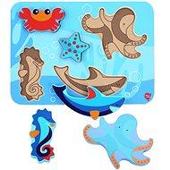 Lucy & Leo 227 Mořští živočichové - dřevěné vkládací puzzle 6 dílů