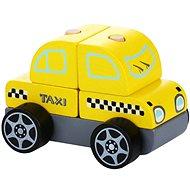 CUBIKA 13159 Taxi vozidlo, drevená skladačka 5 dielov