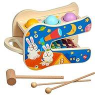 Hudobná hračka Lucy & Leo 250 Hviezdne melódie, drevená hracia sada s xylofónom a kladivkom