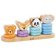 Sun baby drevené krúžky zvieratká - Drevená hračka
