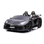 Elektrické autíčko Lamborghini Aventador 12V dvoumístné, černé