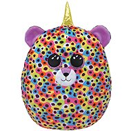 Ty Squish-a-Boos Giselle, 22 cm – dúhový leopard s rohom