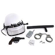 Policajná sada s helmou; 41 × 31,5 × 14 cm