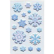 Vánoční etikety sněhové krystalky,1 arch - Etikety