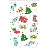 Vánoční etikety, obrázky, 3 archy - Etikety