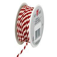 Vánoční provázek červená/bílá 2mx3mm - Balenie darčekov