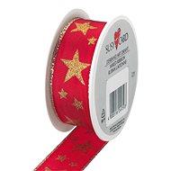 Vánoční stuha, Hvězda, červená 25x2 - Balenie darčekov