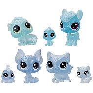 Littlest Pet Shop Zvieratká z ľadového kráľovstva 7ks – modré - Herná sada