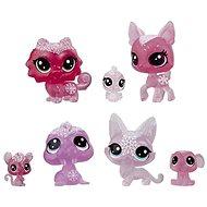 Littlest Pet Shop Zvieratká z ľadového kráľovstva 7 ks – ružová - Herná sada