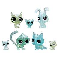 Littlest Pet Shop Zvieratká z ľadového kráľovstva 7 ks – zelená - Herná sada