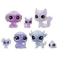 Littlest Pet Shop Zvieratká z ľadového kráľovstva 7 ks – fialové - Herná sada