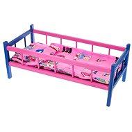 Postieľka drevená farebná - Detský nábytok