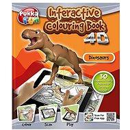 Interaktívne maľovanky 4D dinosaury - maľovanky