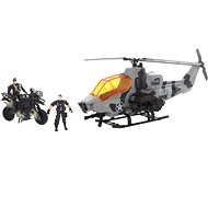 Vojenská helikoptéra a motorka - Hracia súprava