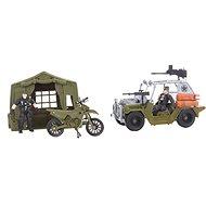 Jeep a motorka - Hracia súprava