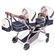 Kočík pre bábiky DeCuevas 80337 Skladací kočík pre dvojičky bábiky 3 v 1 s batôžkom TOP Collection 2020