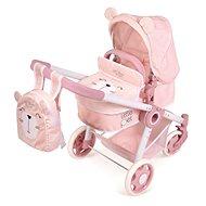 DeCuevas 80539 Skladací kočík pre bábiky 3 v 1 s batôžkom Little Pet 2020 - Kočík pre bábiky
