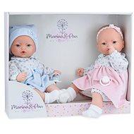 Marina & Pau 573-K Bábiky dvojčiatka – bábätká so zvukmi a mäkkým látkovým telom