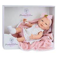 Marina & Pau 1612-K Bábika s dečkou – bábätko New Born dievčatko - Bábika