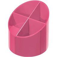 HERLITZ kulatý, 4 přihrádky, růžový
