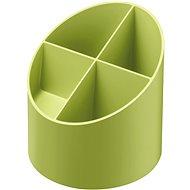 HERLITZ kulatý, 4 přihrádky, zelený - Stojanček na perá