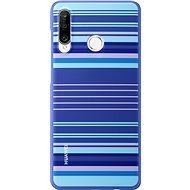 Huawei Original Colorful TPU Puzdro Blue Lines na P30 Lite - Kryt na mobil
