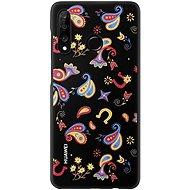 Huawei Original Colorful TPU Puzdro Flower Black na P30 Lite - Kryt na mobil