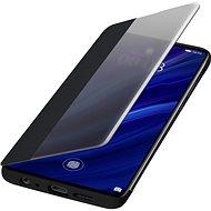 Huawei Original S-View Puzdro Black na P30 - Puzdro na mobil