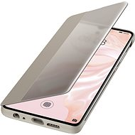 Huawei Original S-View Puzdro Khaki na P30 - Puzdro na mobil