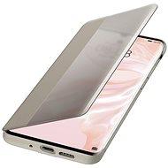 Huawei Original S-View Puzdro Khaki na P30 Pro - Puzdro na mobil