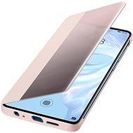 Huawei Original S-View Puzdro Pink na P30 Pro - Puzdro na mobil