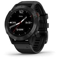 Smart hodinky Garmin Fenix 6 Glass, Black/Black Band (MAP/Music)