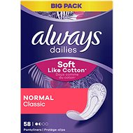 ALWAYS Dailies Soft Like Cotton Normal Intímky 58 ks