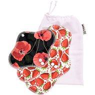 T-tomi Poppies Test Kit + Washing Bag - Eco Menstrual Pads