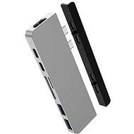 HyperDrive DUO 7 v 2 USB-C Hub na MacBook Pro/Air, strieborný - Replikátor portov
