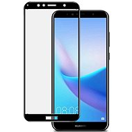 Icheckey 2.5D silk Tempered Glass protector Black pre Huawei Y6 - Ochranné sklo