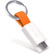 inCharge Micro USB Orange, 0.08m - Dátový kábel